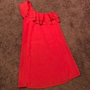 One shoulder Guess coral dress